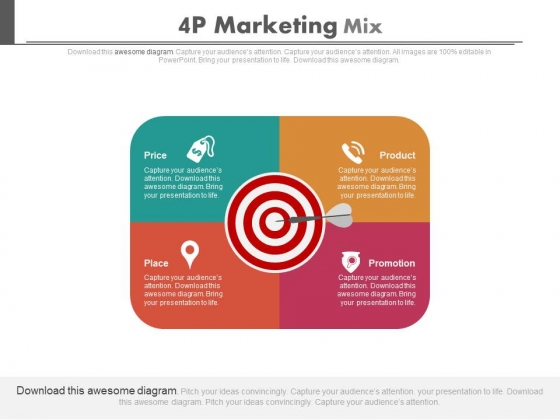 4p marketing mix ppt slides powerpoint templates