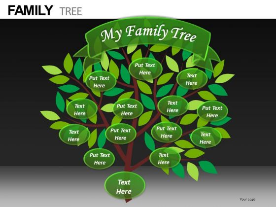 My Family Tree PowerPoint Slides PowerPoint Templates