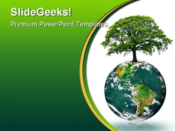 Green Earth Energy Globe Powerpoint Template 0810 Powerpoint Themes