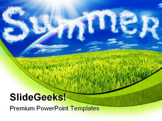 Summer Nature Powerpoint Template 0810 Powerpoint Themes